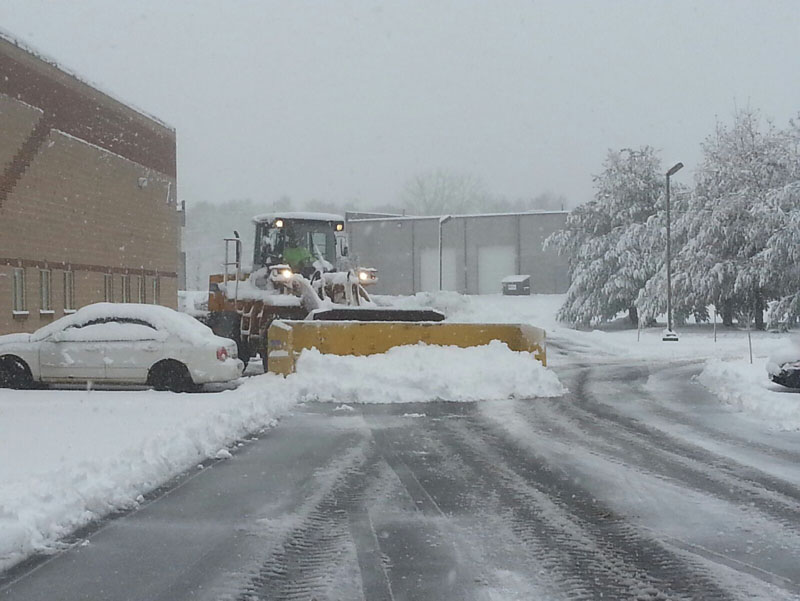 commercial landscaping and snow plowing