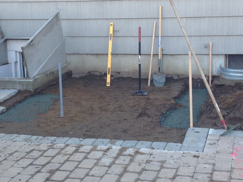 hot tub patio leveling
